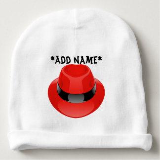 Hat photo print on baby beanie cap