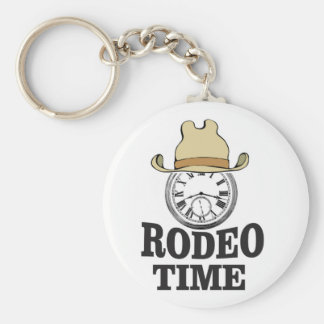 hat rodeo time key ring