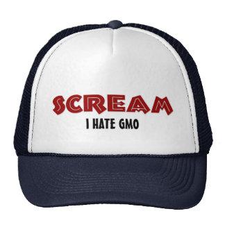 Hat Scream I Hate GMO