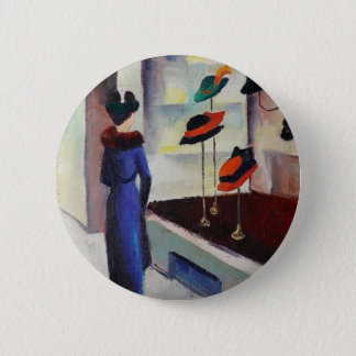 Hat Shop - August Macke 6 Cm Round Badge