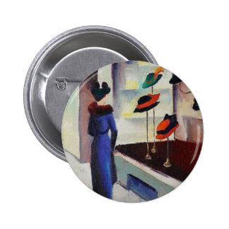 Hat Shop - August Macke 6 Cm Round Badge