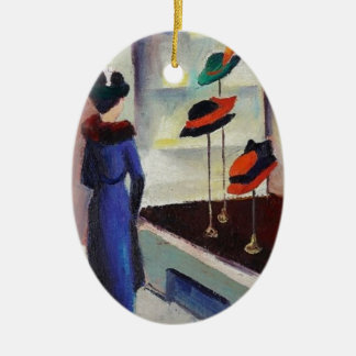 Hat Shop - August Macke Ceramic Ornament
