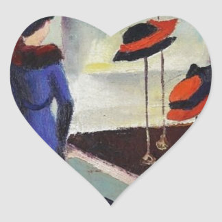 Hat Shop - August Macke Heart Sticker