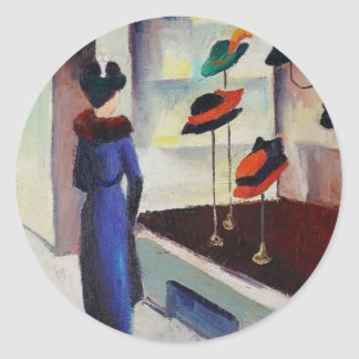 Hat Shop - August Macke Round Sticker