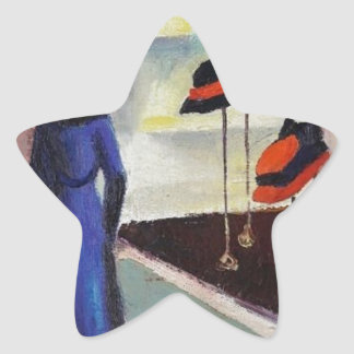 Hat Shop - August Macke Star Sticker