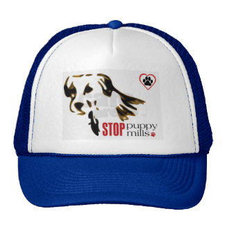 Hat...stop stop puppy m with paw print inside hear
