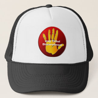hat, stop TribalDisenrollment Trucker Hat