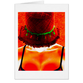 hat takes a holiday card