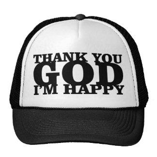 hat-thank you god im happy cap