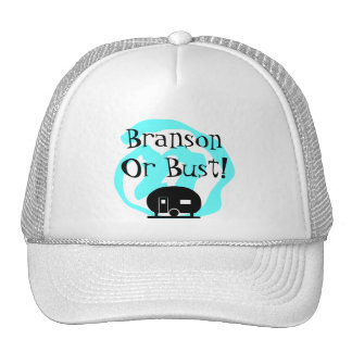 Hat Travel Trailer Branson or Bust Trip camp MO
