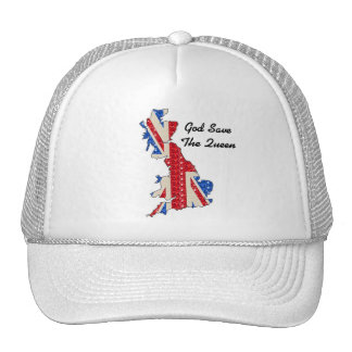 Hat UK Flag God Save The Queen