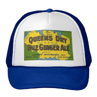HAT~ VINTAGE Queens Dry Pale Ginger Ale Soda Map