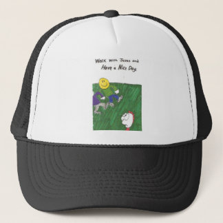 Hat with animated funny church sayings