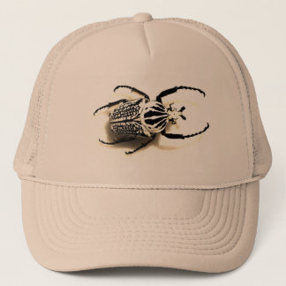 Hat with beetle picture