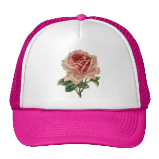 Hat with pink rose for her!