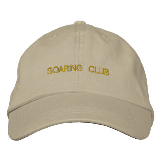 Hat With SOARING CLUB Design Embroidered Baseball Cap
