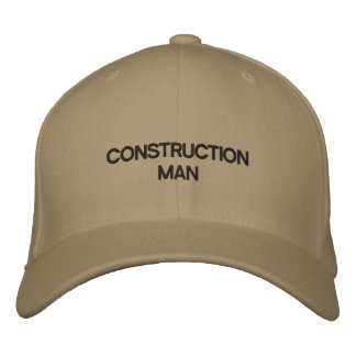 Hat with words CONSTRUCTION MAN on it Baseball Cap