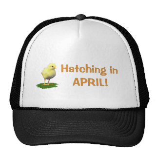 Hatching in April Maternity Pregnant Due In April Mesh Hats
