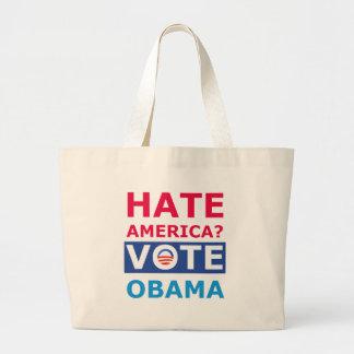 Hate America? Vote Obama (Anti Obama) Canvas Bag