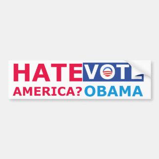 Hate America Vote Obama Anti Obama Bumper Stickers
