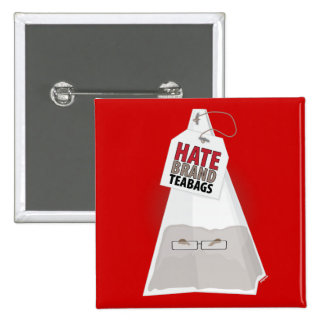 Hate Brand Teabags 15 Cm Square Badge