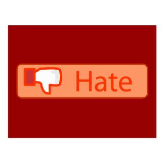 Hate Button Postcards