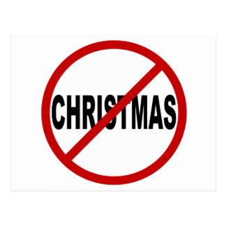 Hate Christma /No Christmas Allowed Sign Statement Postcard