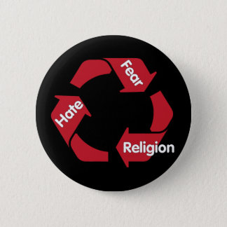 Hate Fear Religion 6 Cm Round Badge