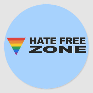 Hate Free Zone Bumper Sticker
