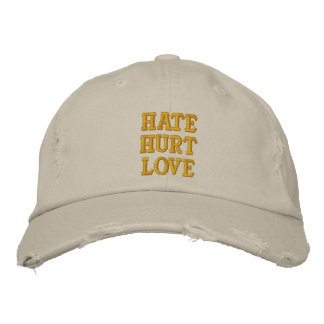 Hate Hurt Love Embroidered Hats