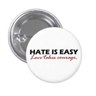 Hate is easy [button]. 3 cm round badge