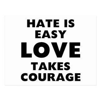 Hate is Easy Postcard