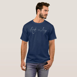 """""""Hate is Lazy"""" shirt - white lettering"""