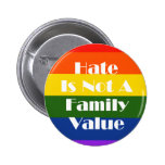 Hate Is Not A Family Value Pin