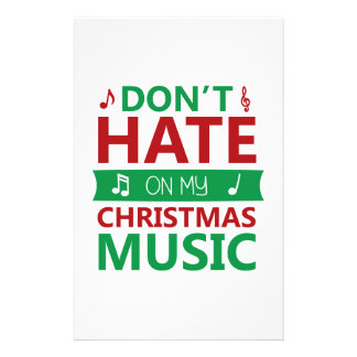 Hate On Christmas Music Stationery