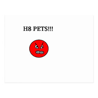hate pets postcard