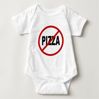 Hate Pizza /No Pizza Allowed Sign Statement Baby Bodysuit
