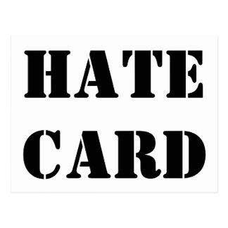 Hate Post Card