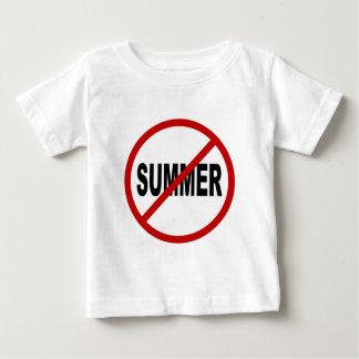 Hate Sunner/No Summer Allowed Sign Statement Baby T-Shirt