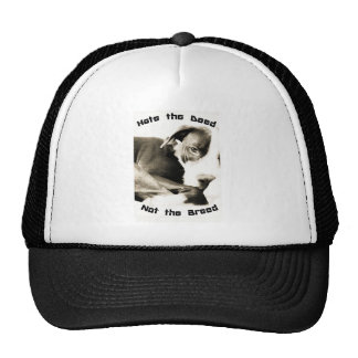 hate the deed not the breed pitbull hats