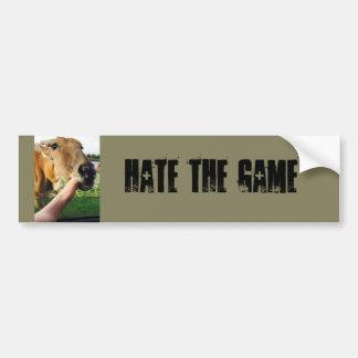 Hate the game funny bumper sticker