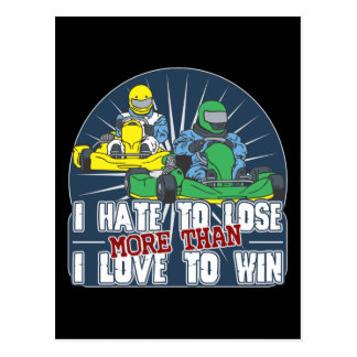 Hate to Lose Kart Postcards