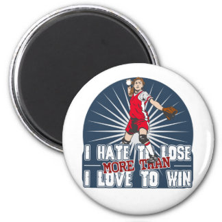 Hate to Lose Softball Fridge Magnets
