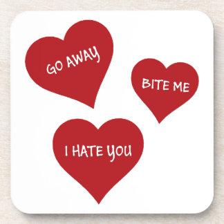 Hate Valentines Coaster
