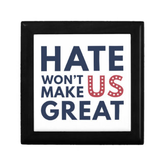Hate Will Not Make US Great Small Square Gift Box