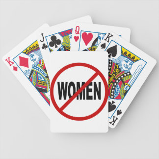 Hate Women/No Women Allowed Sign Statement Bicycle Playing Cards