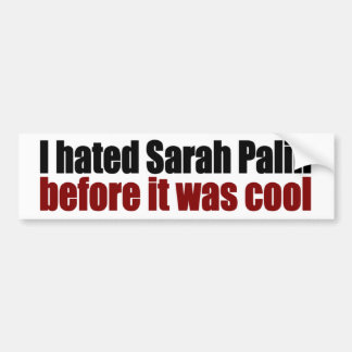 Hated Palin before it was cool Bumper Sticker