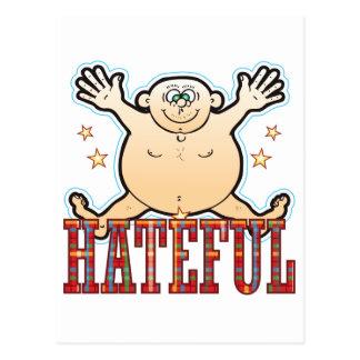Hateful Fat Man Postcard