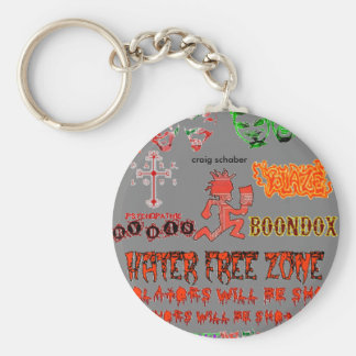 hater free zone key chains