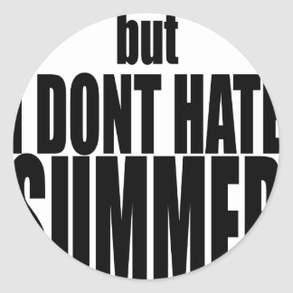 hater summer end vacation flirt romance couple bla classic round sticker